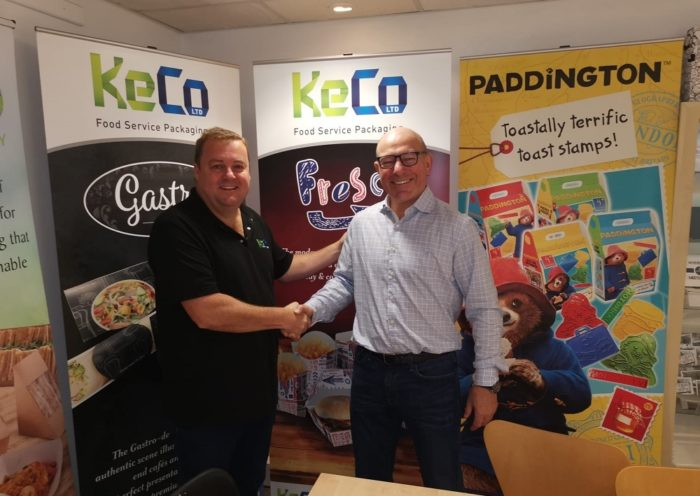 From left: Jamie Kearns, Operations Director of KeCo and Philippe Leemans, CEO of Sabert Europe